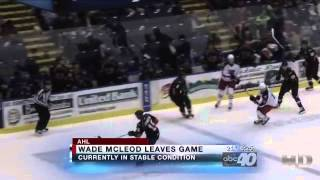 Springfield Falcons Wade MacLeod Injury - 2/17/2013  WGGB-TV Springfield/Holyoke, MA