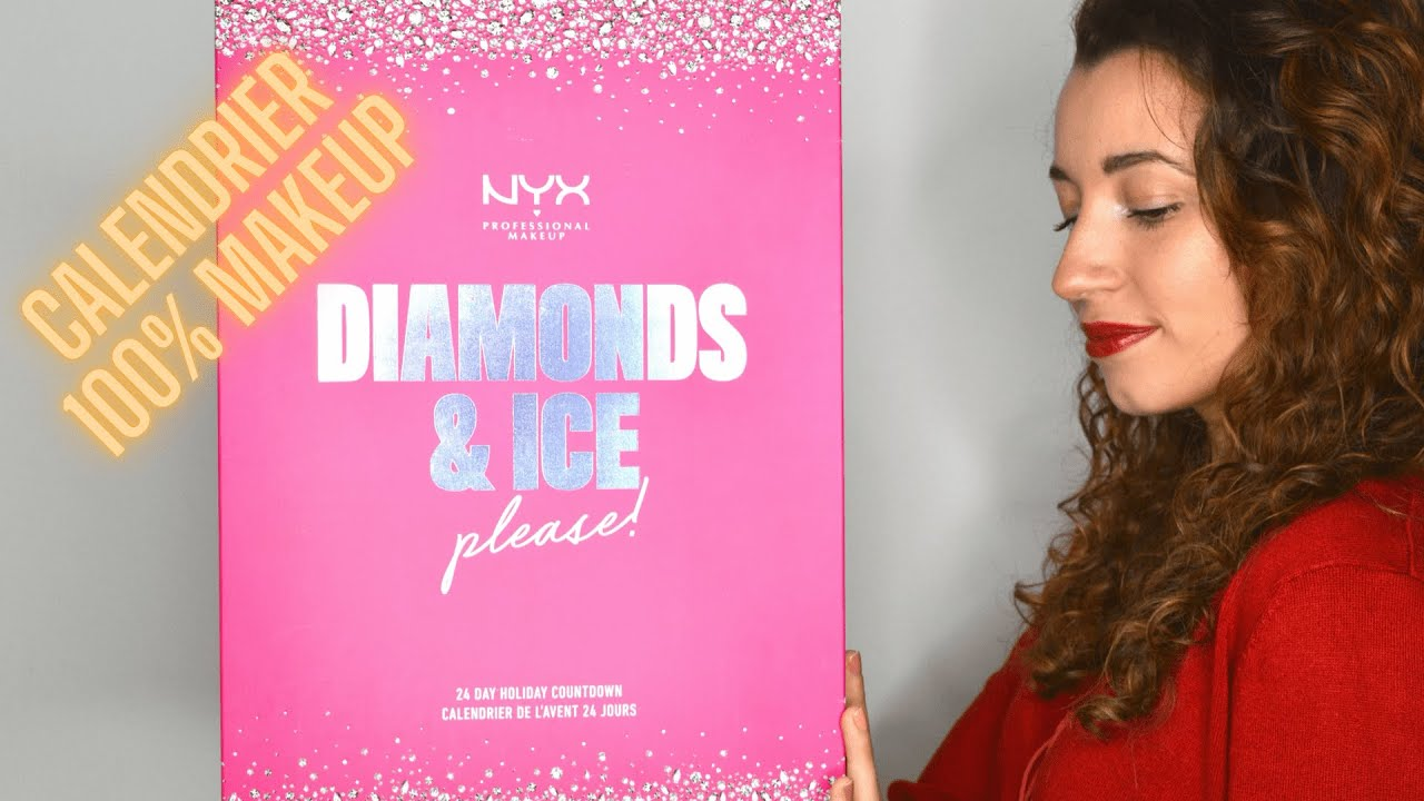 CALENDRIER DE L'AVENT NYX 2020 [DIAMONDS & ICE PLEASE !] UNBOXING + SWATCHES + CHIT CHAT (24 CASES)