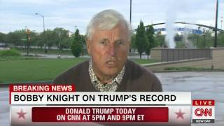 Bobby Knight has tense exchange with CNN host over Trump support: 'You must be a genius then'