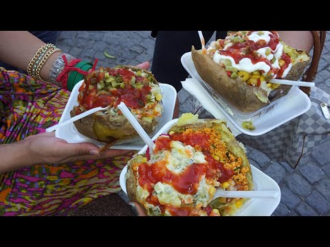 istanbul street food | Kumpir (baked patato) | turkey street food