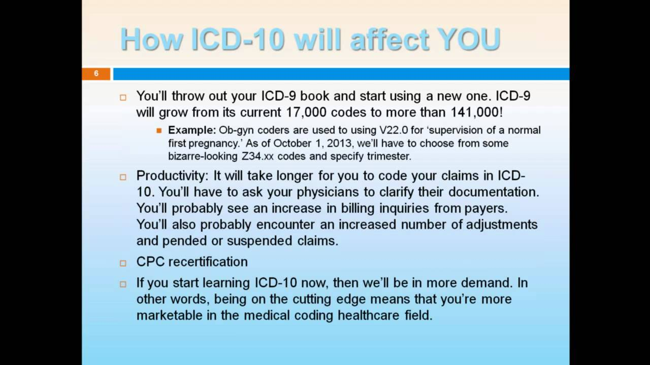 Icd 10 coding what you need to know now 1 of 2 youtube icd 10 coding what you need to know now 1 of 2 xflitez Image collections
