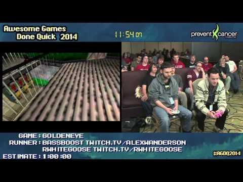Goldeneye 007 :: SPEED RUN (0:24:01) (Co-op) #AGDQ 2014 [N64]