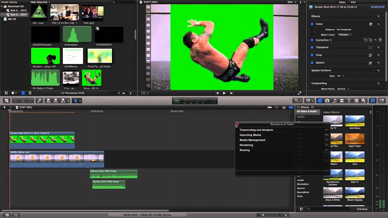 how to use green screen in final cut pro