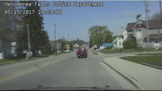 Police chase two stolen cars through Menomonee Falls