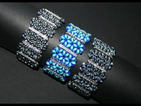 Diy bracelet es o beads and swarovski bars www - Bracelet a faire soi meme modele ...