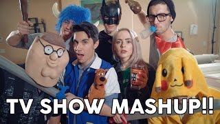 Repeat youtube video TV SHOW MASHUP - 20 Songs in 3 Minutes!! ft. Madilyn Bailey & Sam Tsui