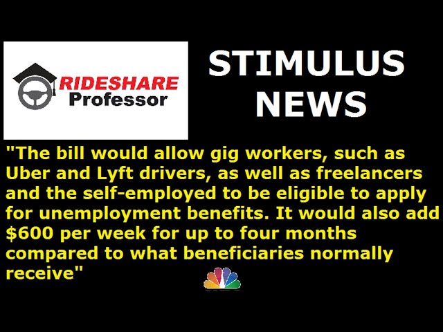 F.A.Q. on STIMULUS checks, Unemployment and the Coronavirus Bill. How much do you get? Gig workers?