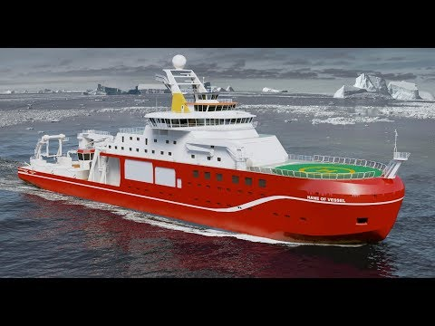 RSS Sir David Attenborough polar research ship builders to g