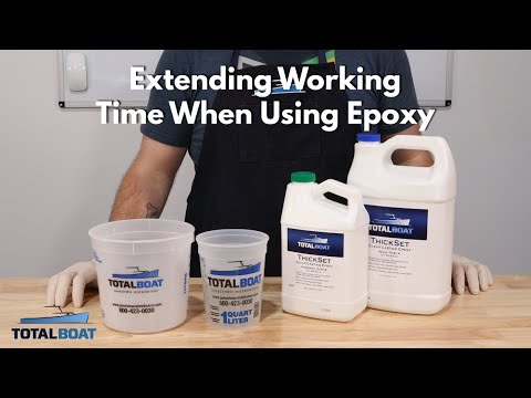How to Extend Working Time With Epoxy