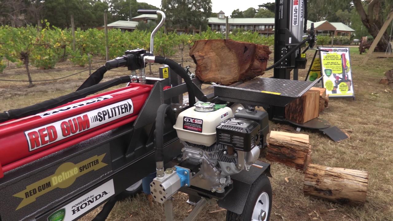 Red Gum Log Splitters Powered By Honda - YouTube