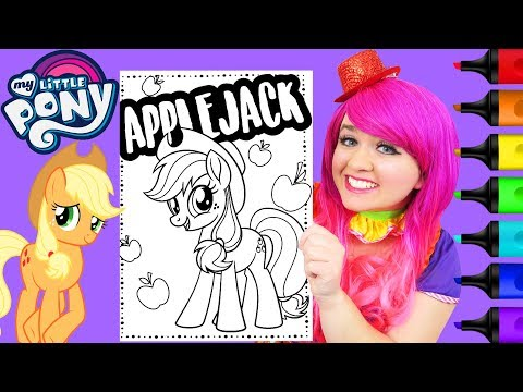 coloring-my-little-pony-the-movie-applejack-coloring-page-prismacolor-markers-|-kimmi-the-clown