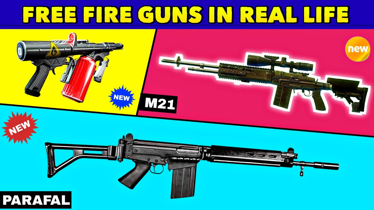( Part - 12 ) Free Fire All Guns In Real Life | free fire guns in real life | Million Fact
