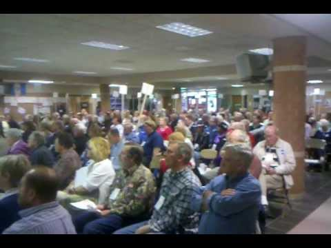 A Huge Crowd at the Iowa Democrats 4th District Convention Listens to Christie Vilsack