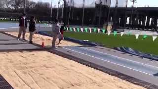 Icahn Stadium 2015 8 & under long jump Brianna Sheperd