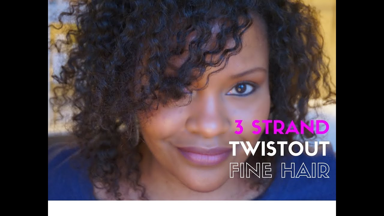 fine natural hair style