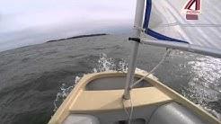 Yksin Suomenlahden yli lasten purjejollalla - testipäivä 3