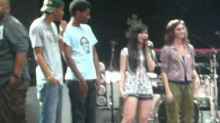 Jonas Brothers/Demi Lovato/Camp Rock-sound check 8/11/2010