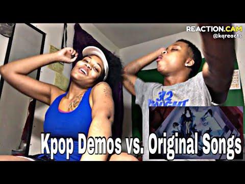 Kpop Demos vs Original Songs (REACTION)