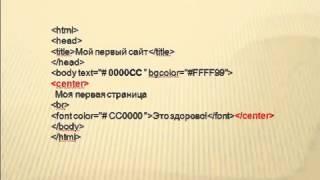 Как создать сайт Видеоурок по HTML для чайников УРОК 1