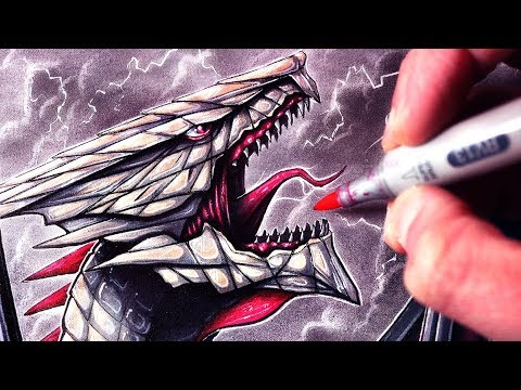 Let's Draw a GIANT DRAGON - FANTASY ART FRIDAY