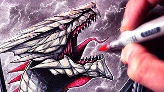 Let's Draw a GIANT DRAGON - FANTASY ART FRIDAY