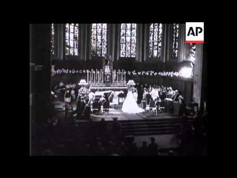 Wedding of Prince Jean of Luxembourg and Princess Josephine Charlotte of Belgium - 1953