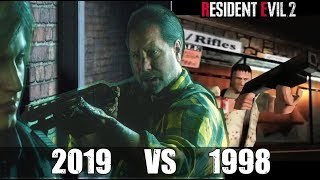 Robert Kendo's Sacrifice (Father Protecting His Daughter) - RE2 Remake VS Original RE2 Comparison