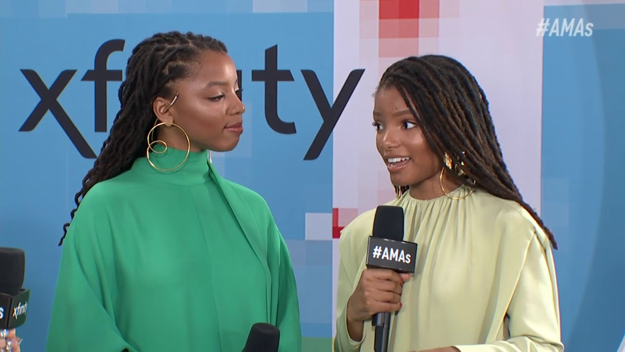 Chloe & Halle Bailey Red Carpet Interview - AMAs 2018