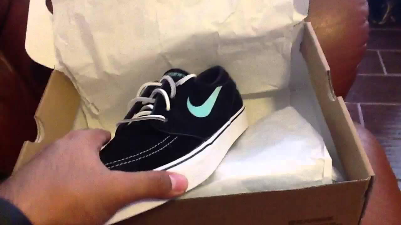 timeless design e97d2 13190 Nike sb zoom stefan janoski black mint (Tiffany) review
