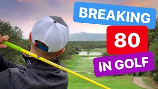 ON COURSE GOLF TIPS BREAKING 80 IN GOLF