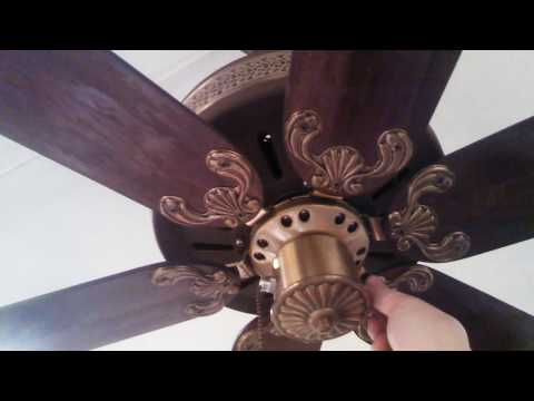 Fasco World's Fair Ceiling Fan model 962 in brown and antique brass