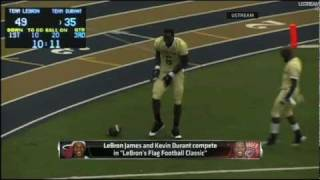 LeBron James & kevin Durant Play Flag Football!.