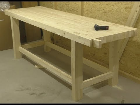 DIY woodworking workbench, simple and easy to make