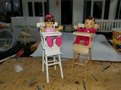 Baby Dollhouse Highchair