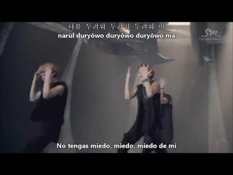 EXO  Wolf (Korean Version) MV (Sub Español,Hangul,Romanización)