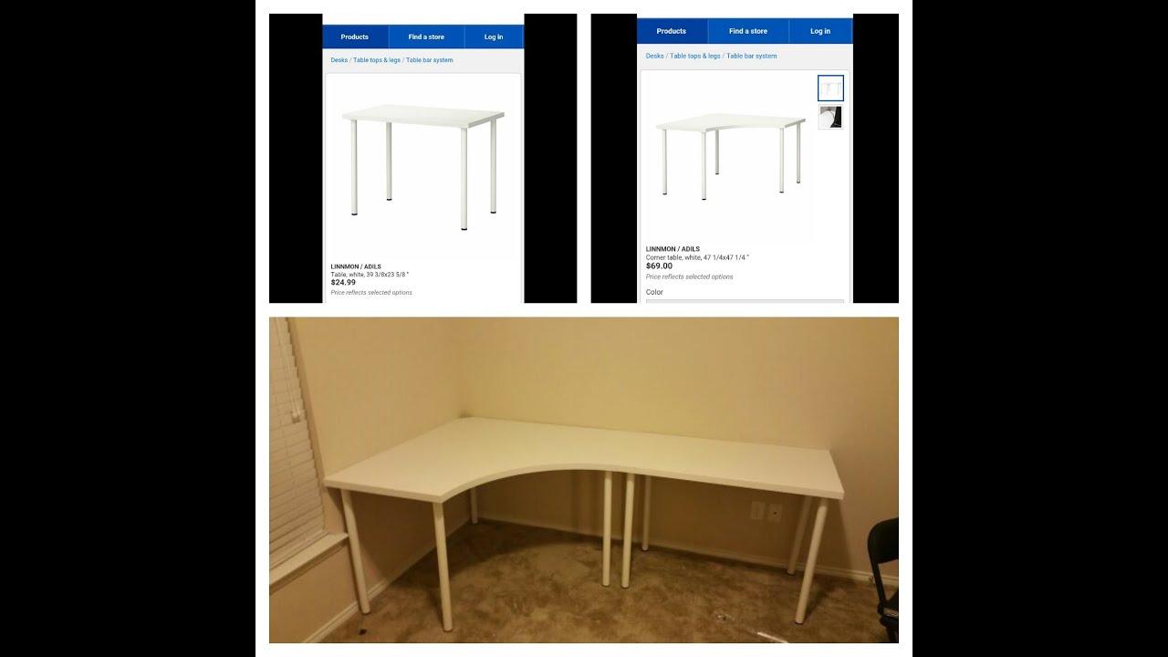Linnmon / Adils Corner Desk and Regular Desk from Ikea ...
