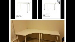 Linnmon / Adils Corner Desk and Regular Desk from Ikea