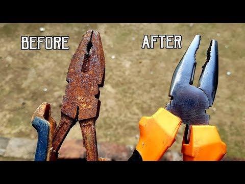 Старые и ржавые плоскогубцы восстановление инструмента
