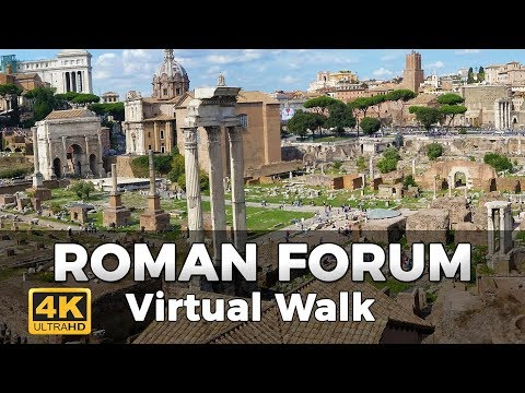 Roman Forum Walking Tour in 4K