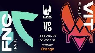 Fnatic vs Team Vitality | LEC Spring split 2020 | Semana 9 | League of Legends
