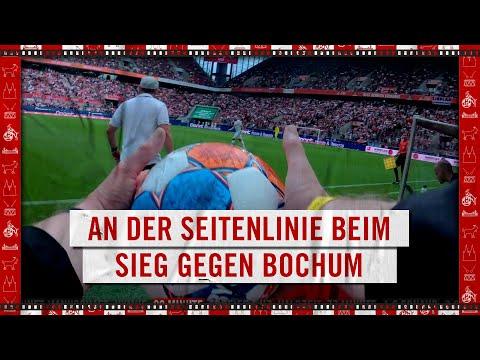 POV: An der SEITENLINIE beim SIEG gegen BOCHUM   1. FC Köln   Steffen Baumgart