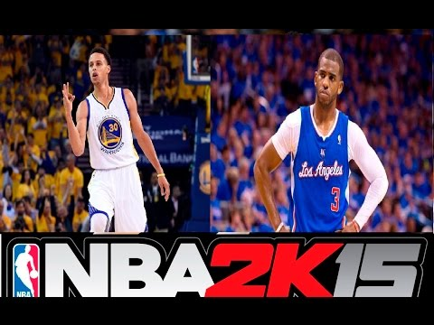 Nba 2k15 stephen curry vs chris paul highlights youtube