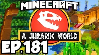 Jurassic World: Minecraft Modded Survival Ep.181 - MYSTERY OF THE ELASMOTHERIUM!!! (Dinosaurs Mods)