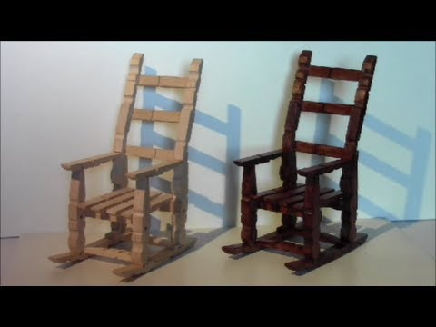 tutorial para hacer una mecedora con pinzas de madera make a rocking chair with wooden pegs youtube