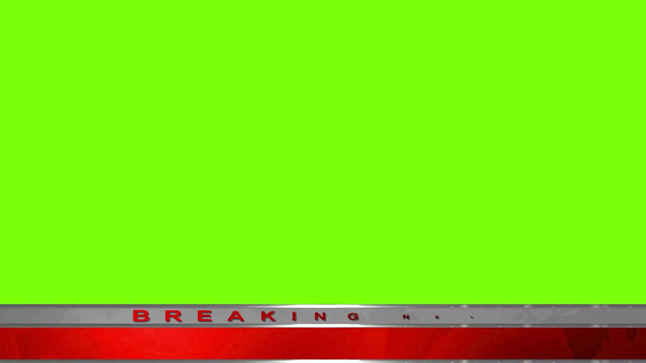 Breaking New Option2 Green Screen 1080p Royalty Free Youtube