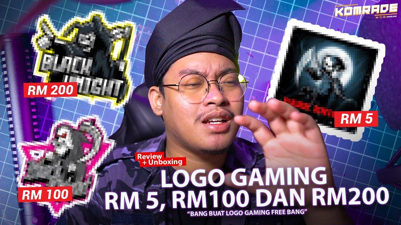 LOGO GAMING RM5,RM100 DAN RM200!!! Bang nak logo free bang?