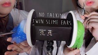 ASMR No Talking Twin Slime Ear Surgery (Last Series) 쌍둥이노토킹귀수술