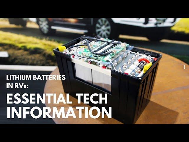 Lithium batteries for caravans: essential information!