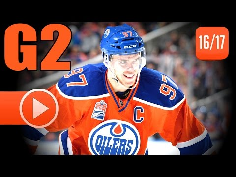 San Jose Sharks vs Edmonton Oilers. 2017 NHL Playoffs. Round 1. Game 2. April 14th, 2017. (HD)