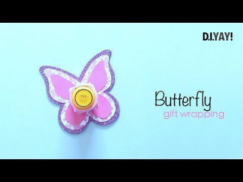 DIY Butterfly Gift Wrapping | Gift Wrapping Ideas | Craft Ideas
